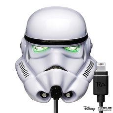星際大戰 StarWars LED大頭充電器+Lightning充電線(Apple專用)- 白武士