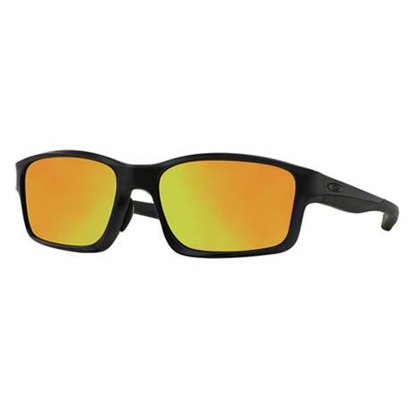 【OAKLEY】CHAINLINK MAT 太陽眼鏡-附鏡袋無鼻墊 抗藍光 黑金