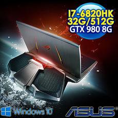 【瘋狂下殺 7/24前再現折一千】ASUS ROG GX700VO-0031A6820HK 17.3FHD 水冷電競筆電